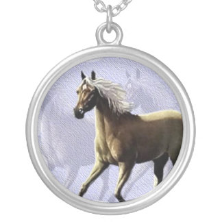 Horse Shadow Silver Plated Necklace