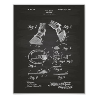 Horse Shoe 1899 Patent Art Chalkboard Poster