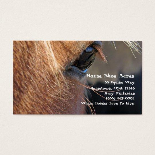 Horse Shoe Acres Business Card
