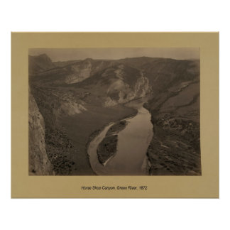 Horse Shoe Canyon, Green River, 1872 Poster