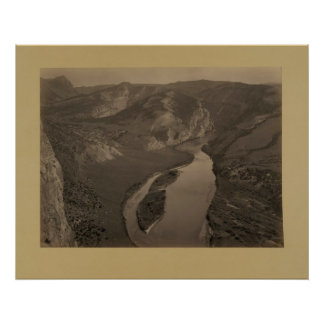 Horse Shoe Canyon, Green River, 1872 Posters