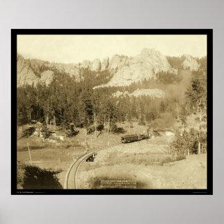 Horse Shoe Curve Buckhorn Mountain SD 1891 Poster