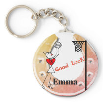 Horse shoe Design Good Luck Netball Keychain