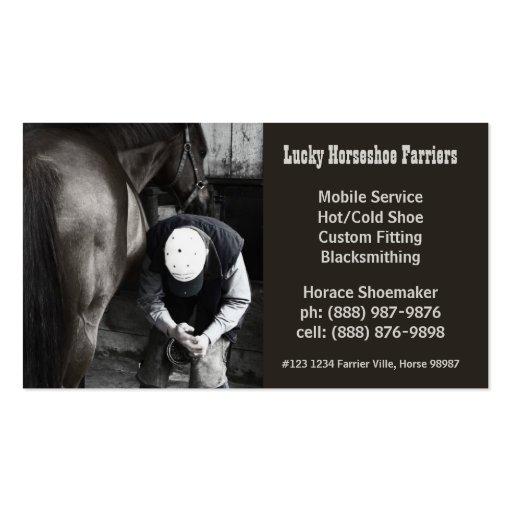 Horse Shoe Farrier Hoof Service Business Card Templates