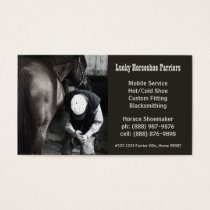 Horse Shoe Farrier Hoof Service Business Card