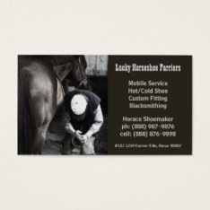 Horse Shoe Farrier Hoof Service Business Card at Zazzle