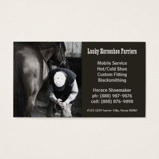 Horse Shoe Farrier Hoof Service Business Card