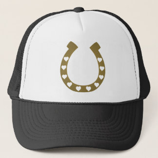 horse shoe hearts cowgirl cowboy trucker hat