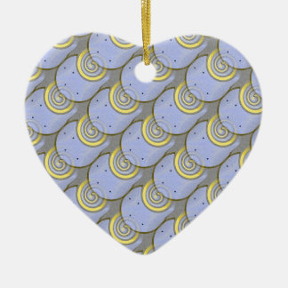 Horse Shoe Pattern with Template Double-Sided Heart Ceramic Christmas Ornament