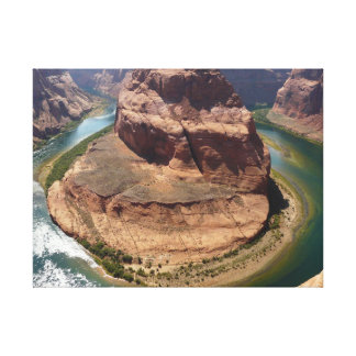 Horse Shoe River Premium Wrapped Canvas (Gloss)