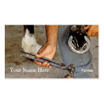 Horse shoeing business card