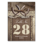 Horse shoes western wedding table number cards table cards