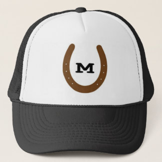 Horse shoes with 'M' on it Trucker Hat