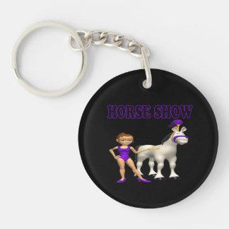 Horse Show 2 Single-Sided Round Acrylic Keychain