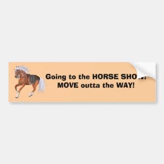 Horse Show Bumper sticker Car Bumper Sticker