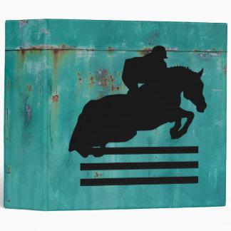 Horse Show Hunter Jumper Silhouette 3 Ring Binder