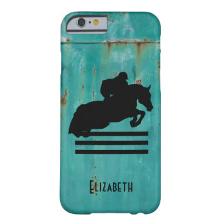 Horse Show Hunter Jumper Silhouette Barely There iPhone 6 Case