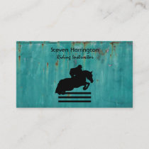Horse Show Hunter Jumper Silhouette Business Card