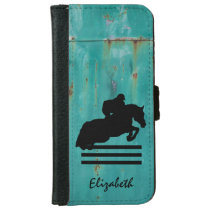 Horse Show Hunter Jumper Silhouette iPhone 6/6s Wallet Case