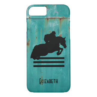 Horse Show Hunter Jumper Silhouette iPhone 8/7 Case