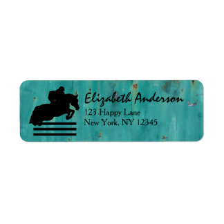 Horse Show Hunter Jumper Silhouette Label