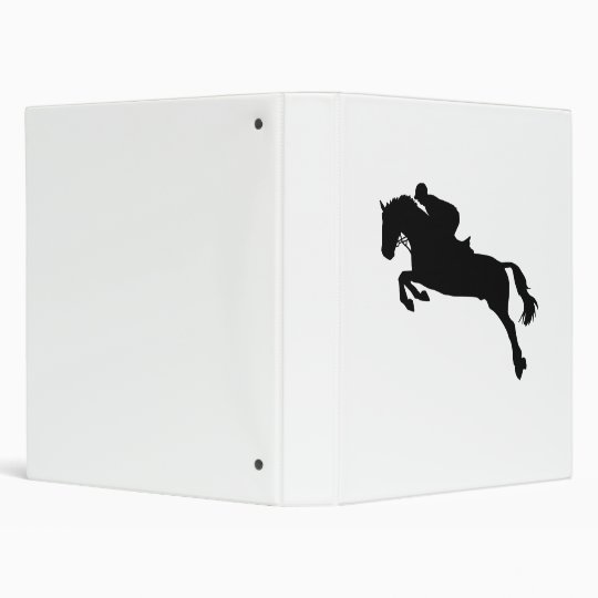 Horse show jumping 3 ring binder