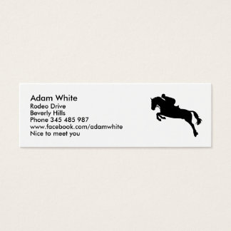 Horse show jumping mini business card