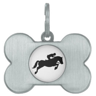 Horse show jumping pet ID tag