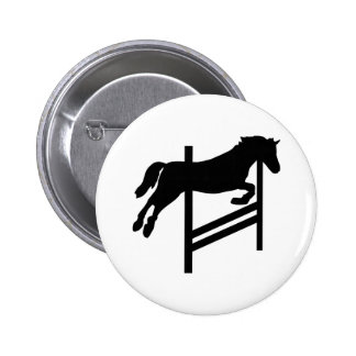 Horse - Show Jumping Pinback Button