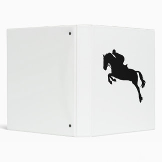 Horse show jumping vinyl binder