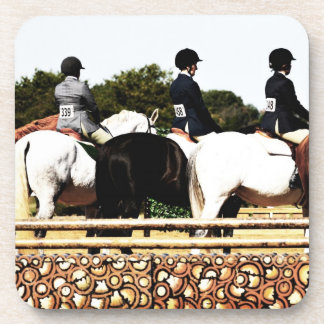 Horse Show Line Up Beverage Coasters