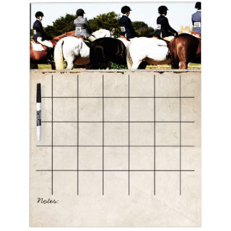Horse Show Line Up Dry Erase Whiteboards