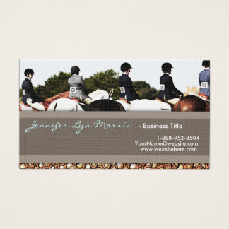 Horse Show Line Up Equestrian Profile Card