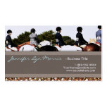 Horse Show Line Up Equestrian Profile Card Double-Sided Standard Business Cards (Pack Of 100)