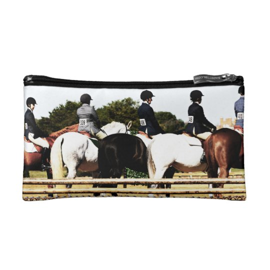 Horse Show Line Up Makeup Bag