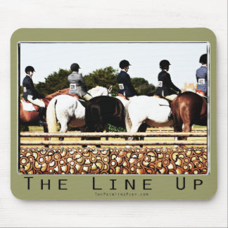 Horse Show Line Up Mouse Pad
