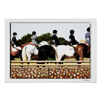 Horse Show Line Up Poster