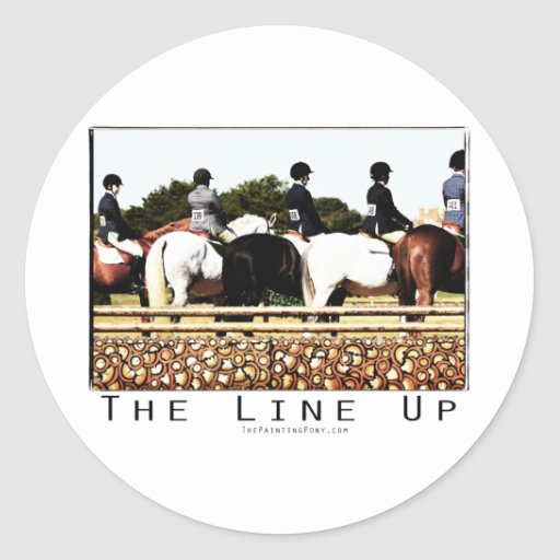 Horse Show Line Up Stickers