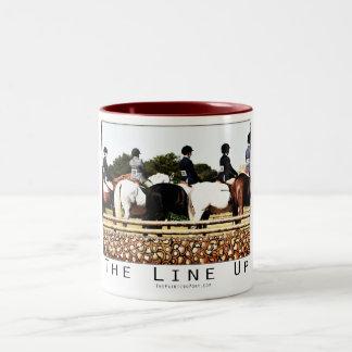 Horse Show Line Up Two-Tone Coffee Mug