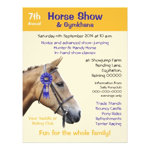 Horse Show Or Event Flyer Zazzle