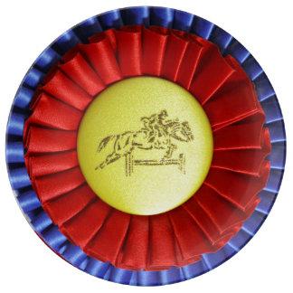Horse Show Ribbon Porcelain Plates
