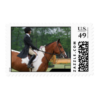 Horse Show Ring Postage Stamp