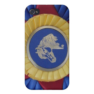 Horse Show Rosette -- Tricolor 4G iPhone 4 Covers