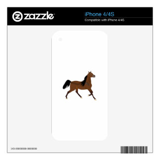 HORSE SIDE VIEW SKINS FOR iPhone 4