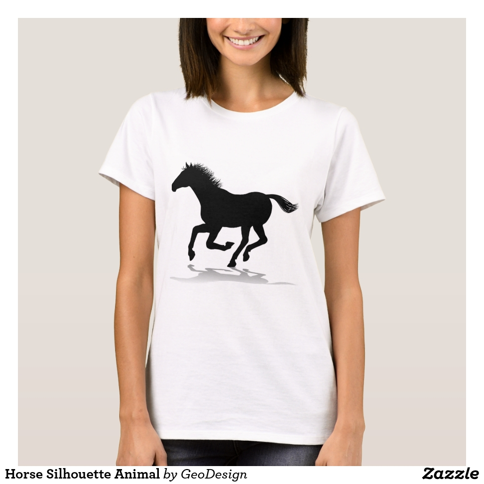 Horse Silhouette Animal T-Shirt - Best Selling Long-Sleeve Street Fashion Shirt Designs