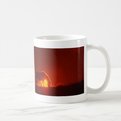 Horse Silhouette at Sunset Classic White Coffee Mug