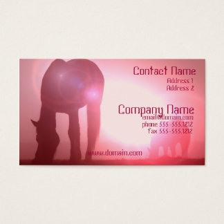 Horse Silhouette Business Card