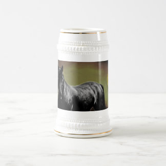 Horse silhouette by Moonlight Beer Stein