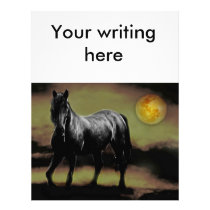 Horse silhouette by Moonlight Letterhead