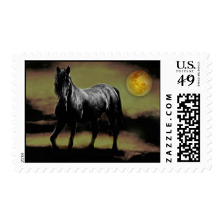 Horse silhouette by Moonlight Postage